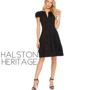 Halston Heritage silk formal cocktail dress
